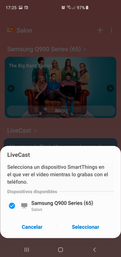Samsung Smarthings app livecast