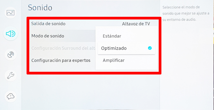 Samsung-QLED-8K-Q900R-ajuste del televisor, pantalla y sonido