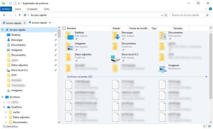 archivos recientes en windows 10
