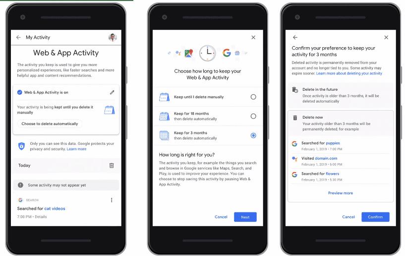 Google anuncia la autoeliminación de datos