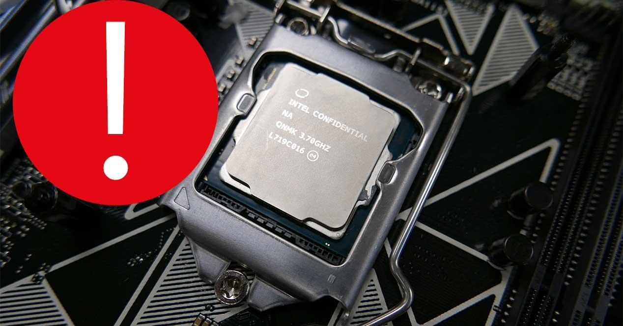 intel procesador error windows 10