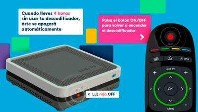 El deco de Movistar+ se apagará automáticamente para ahorrar energía