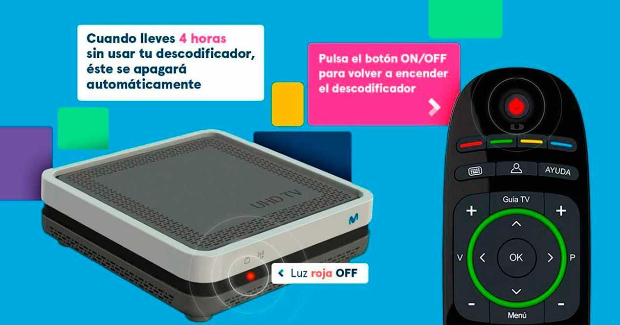 Nueva función deco Movistar+: apagado automático para ahorrar energía