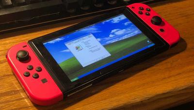 Consiguen ejecutar Windows XP en Nintendo Switch y jugar a juegos de la Wii