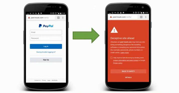 phishing web falsa