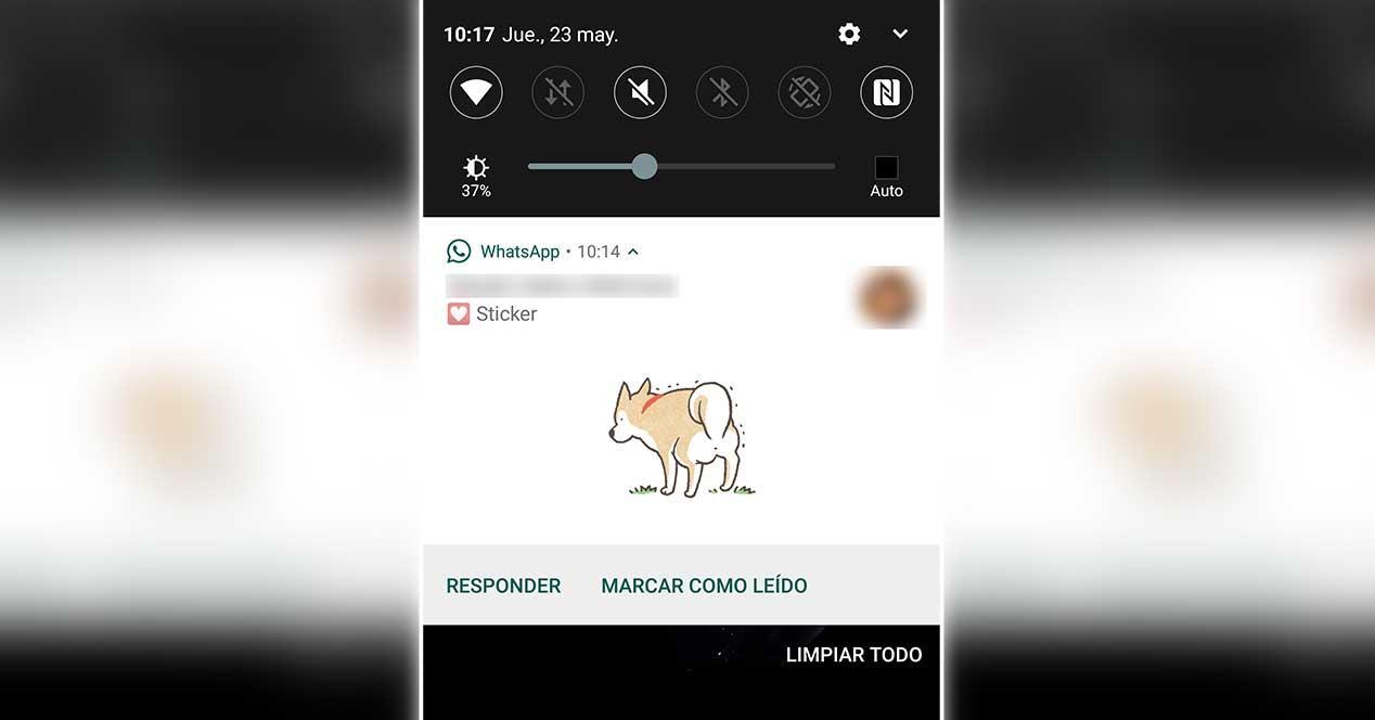 WhatsApp ya permite ver stickers en las notificaciones de