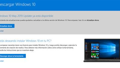 Windows 10 May 2019 Update ya disponible: cómo descargarla e instalarla en tu PC