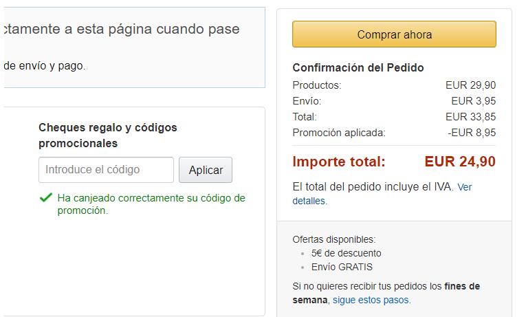 Codigo 5 Euros Amazon