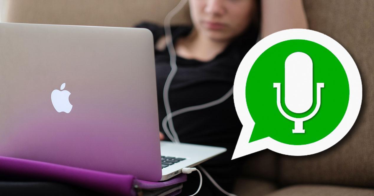 Pasos para abrir notas de voz de WhatsApp en PC