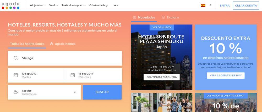 Buscador de hoteles Agoda.com