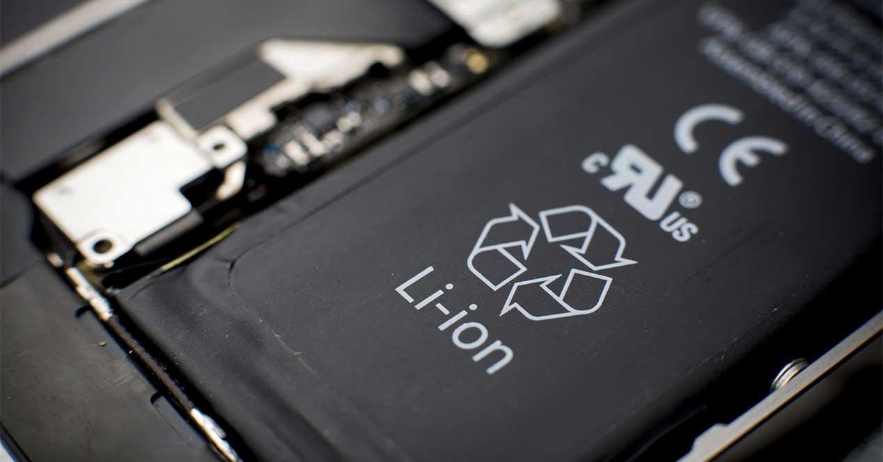 bateria litio baterías