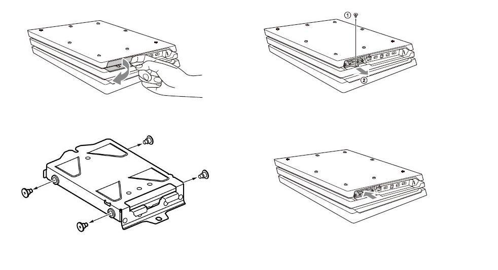 Pasos para cambiar el disco duro de la PS4 Pro