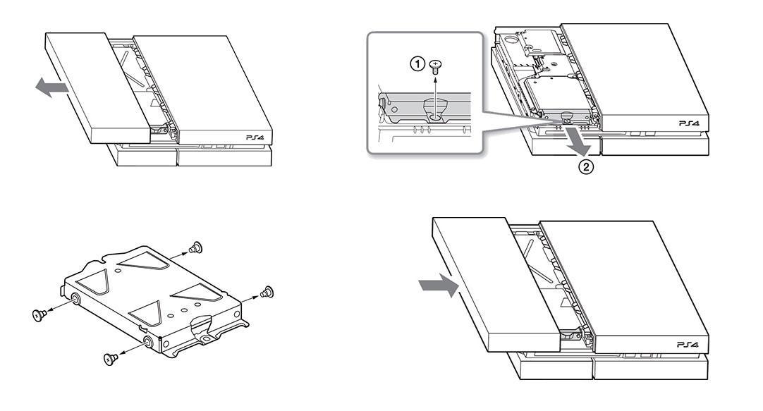 Esquema de cambio de disco a PS4 CUH-1200, CUH-1000 y CUH-1110