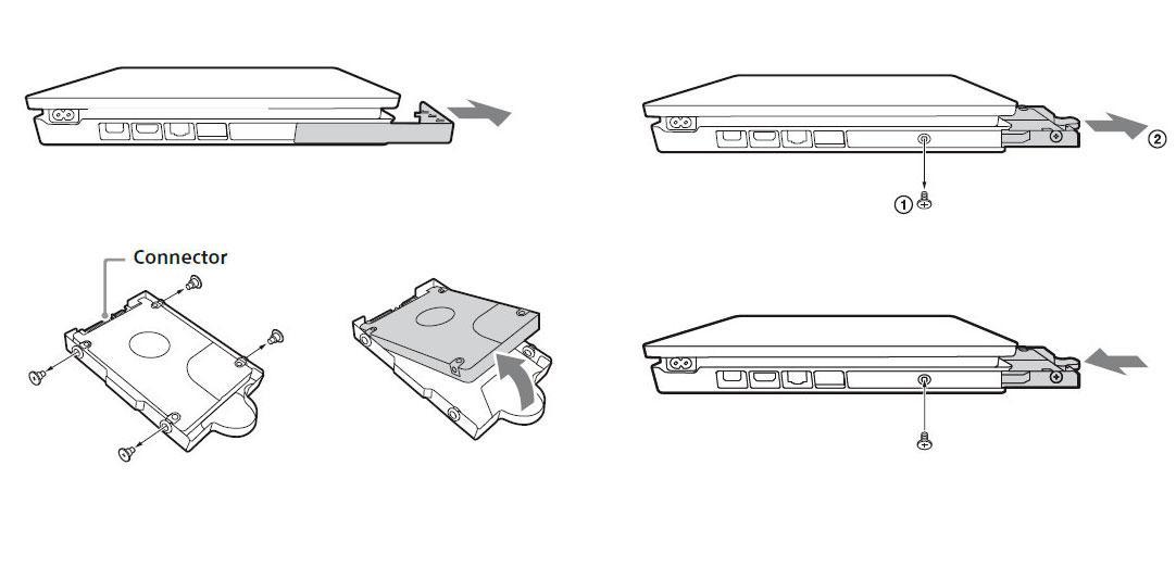 Esquema de cambio de disco duro de PS4 serie CUH-2015