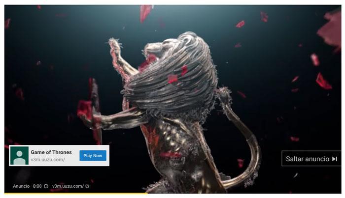 Ejemplo de anuncio de vídeo de Google Ads