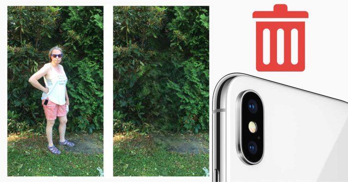 eliminar gente camara iphone