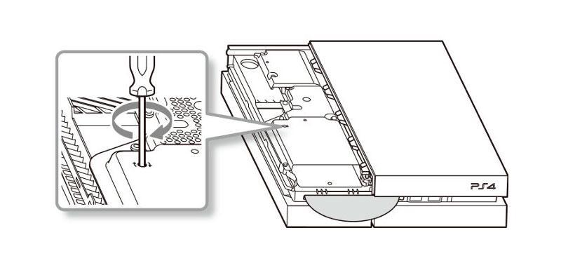 Gira el tornillo indicado para extraer el disco