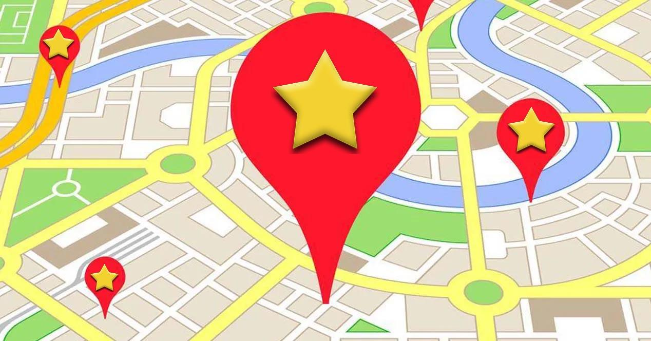 favoritos en Google Maps