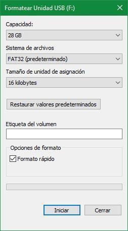 formatear un USB
