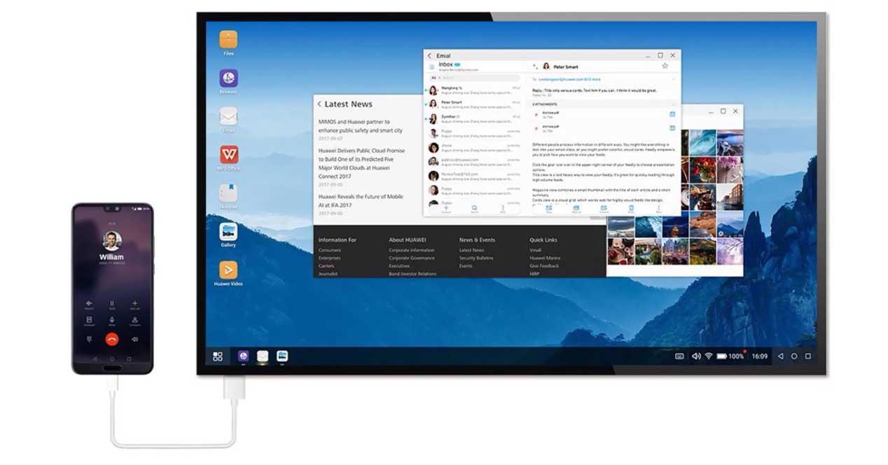 Ver noticia 'Noticia 'Tanto móvil como ordenador, así es modo PC del Huawei P30 Pro''