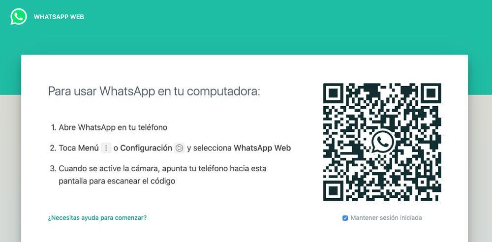 Inicio de sesión en WhatsApp Web