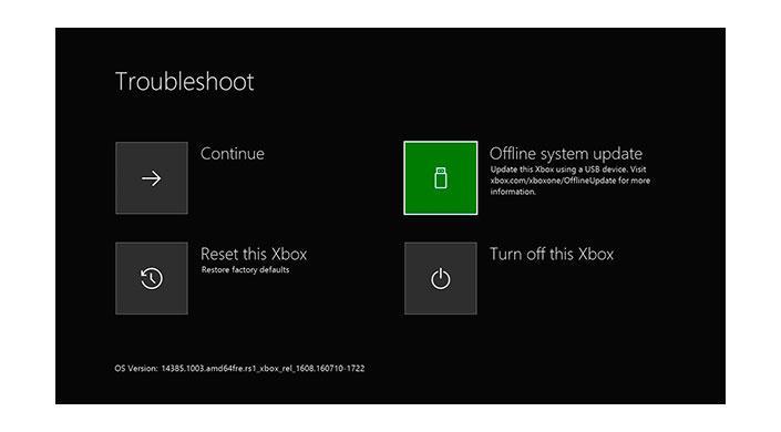 Instalar sistema operativo Xbox One
