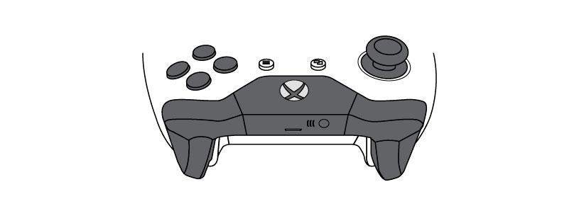 Esquema del mando de Xbox One con conexión Bluetooth