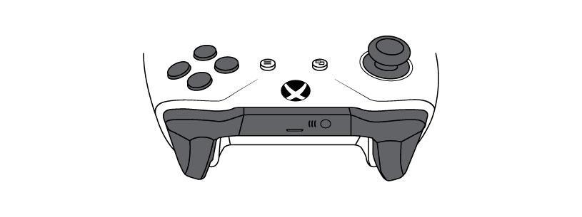 Esquema del mando de Xbox One sin Bluetooth