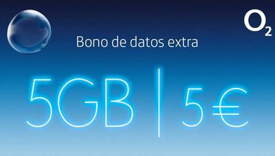 O2 lanza sus bonos de 5 GB extra por 5 euros en sus líneas móviles