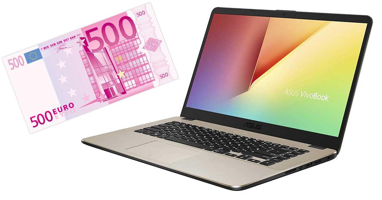 portátil 500 euros