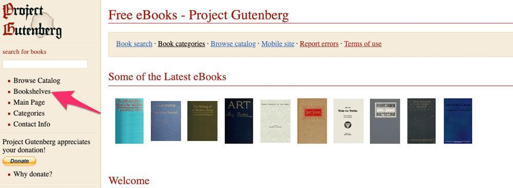 Portada de Project Gutenberg