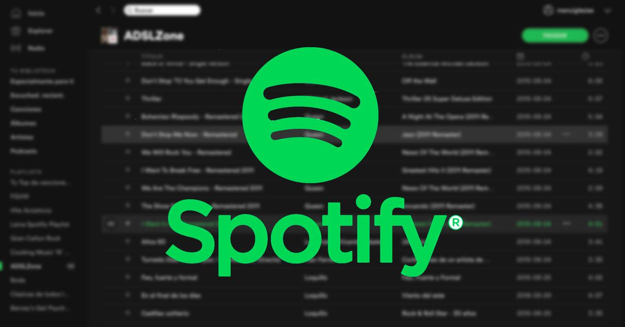 Ventana de Spotify con su logo