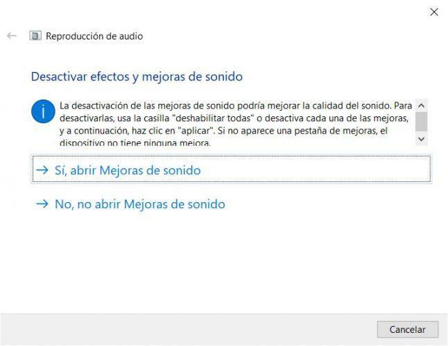 problemas de sonido en Windows 10