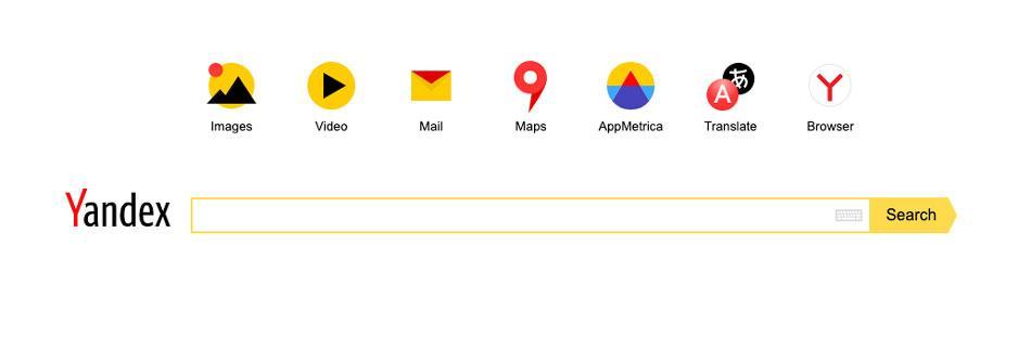 Página principal Yandex