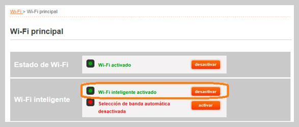Activar WiFi inteligente
