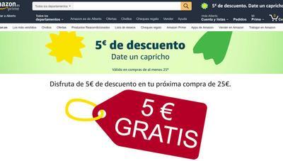 Código de descuento de Amazon: 5 euros gratis si gastas más de 25