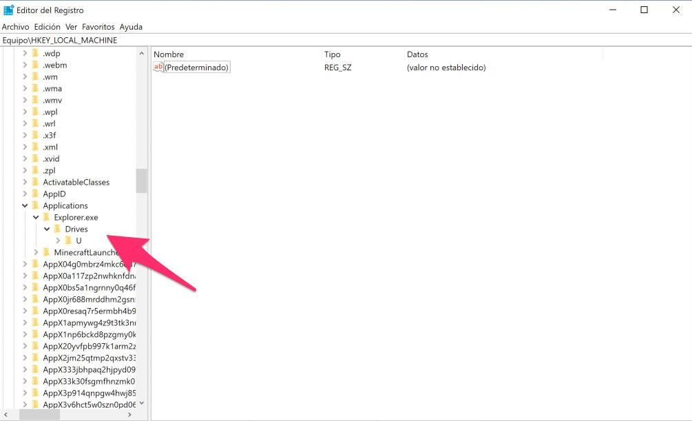 Crear árbol de directorios en el RegEdit