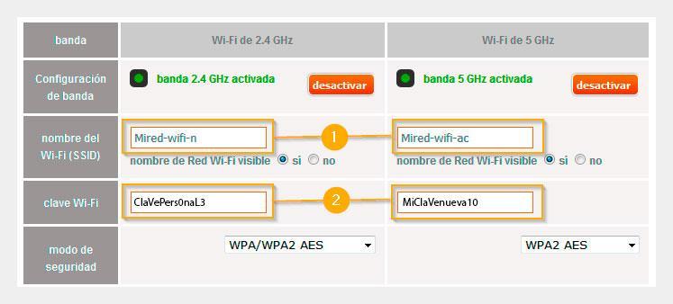 Cambiar clave del WiFi del router de Jazztel