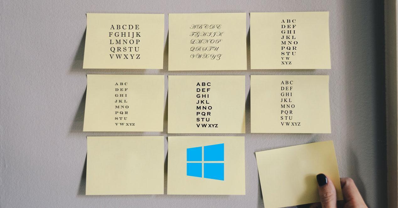 Cambiar tipografía de Windows 10