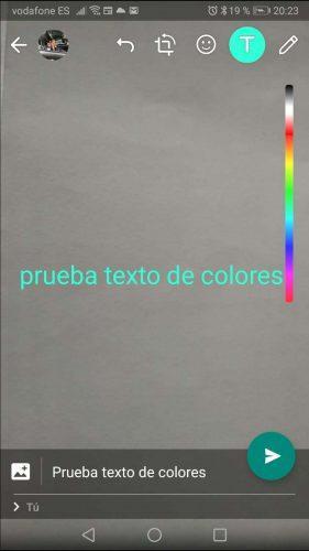 color de la letra de WhatsApp