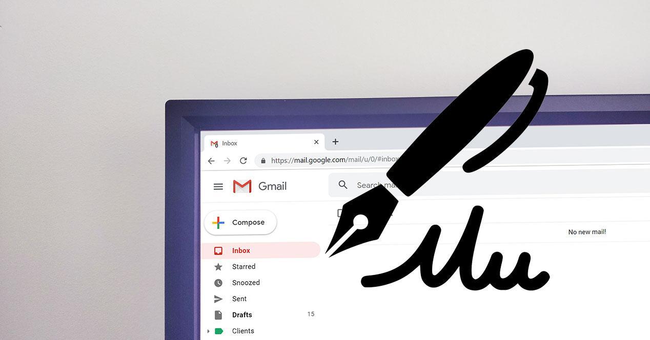 Configurar firma en Gmail con imágenes y URL