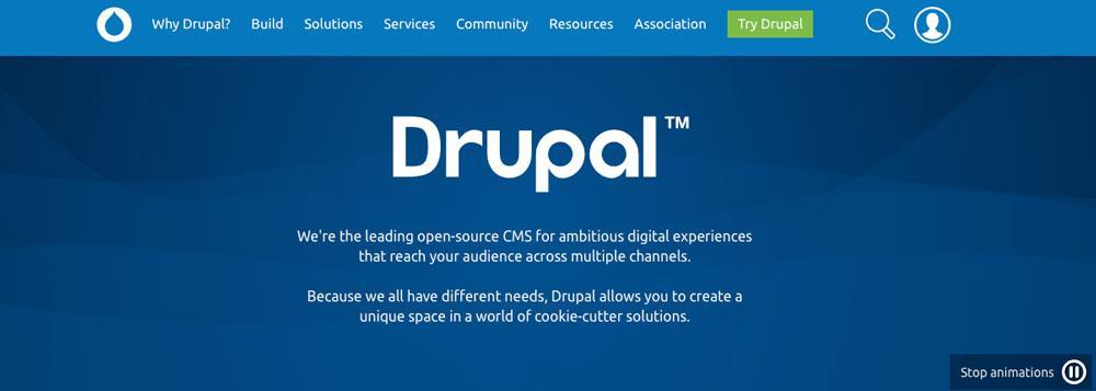 Web de Drupal