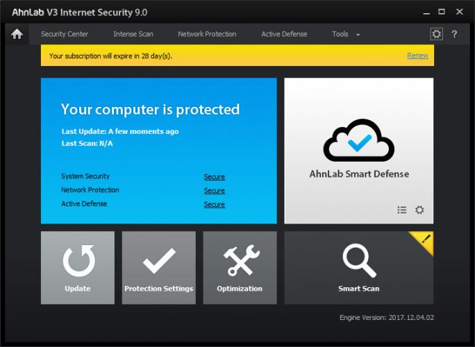AhnLab V3 Internet Security 9.0