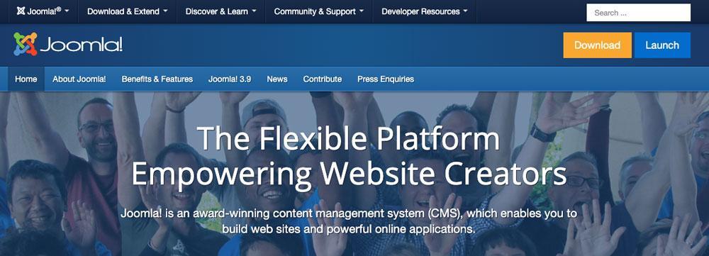 Página web de Joomla