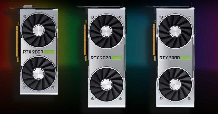 nvidia rtx super 2060 2070 2080
