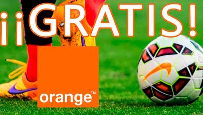 Orange regala todo el fútbol gratis durante toda la temporada