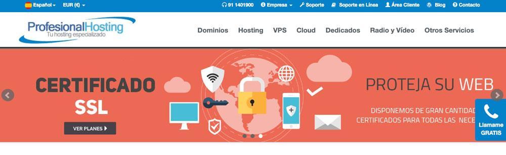 Web de ProfesionalHosting