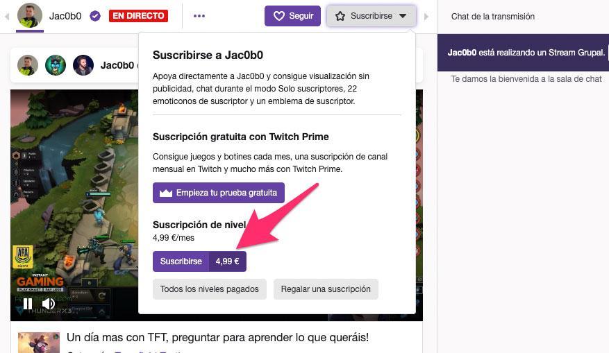 Programa de afiliados de Twitch