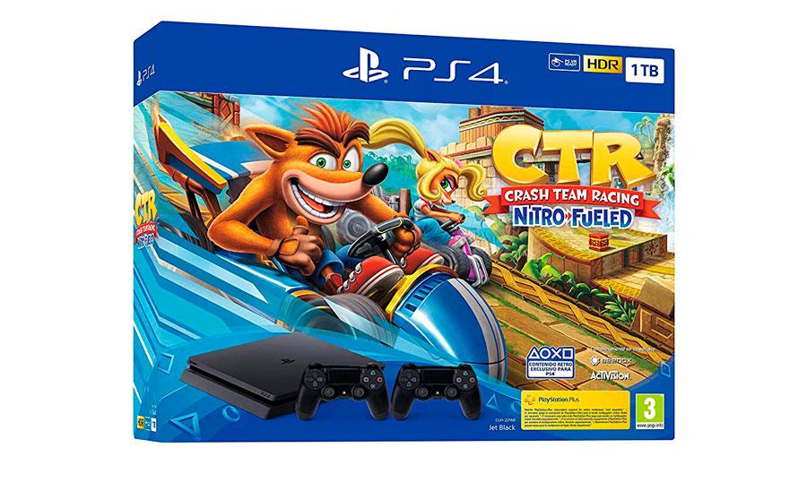 PlayStation 4 con Crash Team Racing en oferta