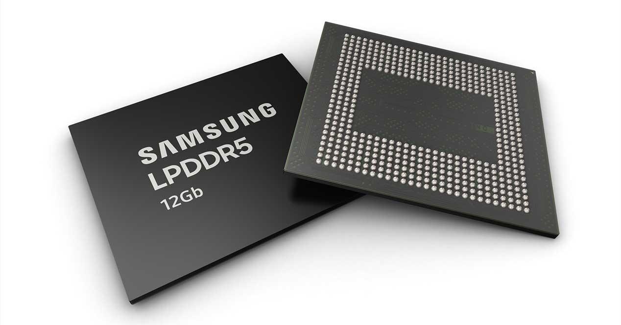 Samsung presenta su memoria RAM LPDDR5 para móviles de 12GB
